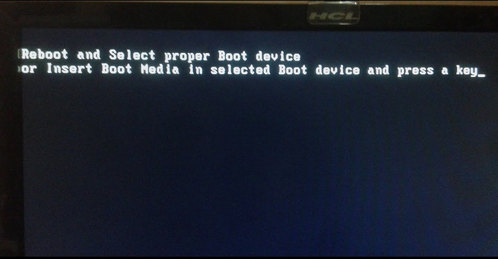 Fix Reboot and Select Proper Boot Device Error