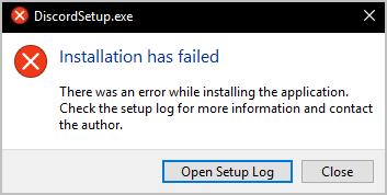 Discord Update Failed Error in Windows 10, 8 and 7