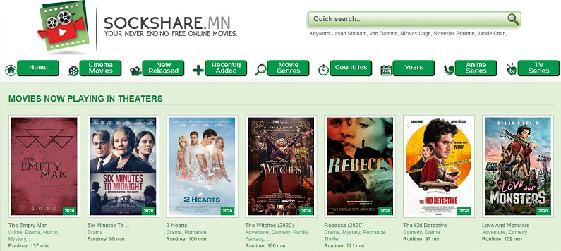 SockShare Alternatives to Stream Movies and TV Shows