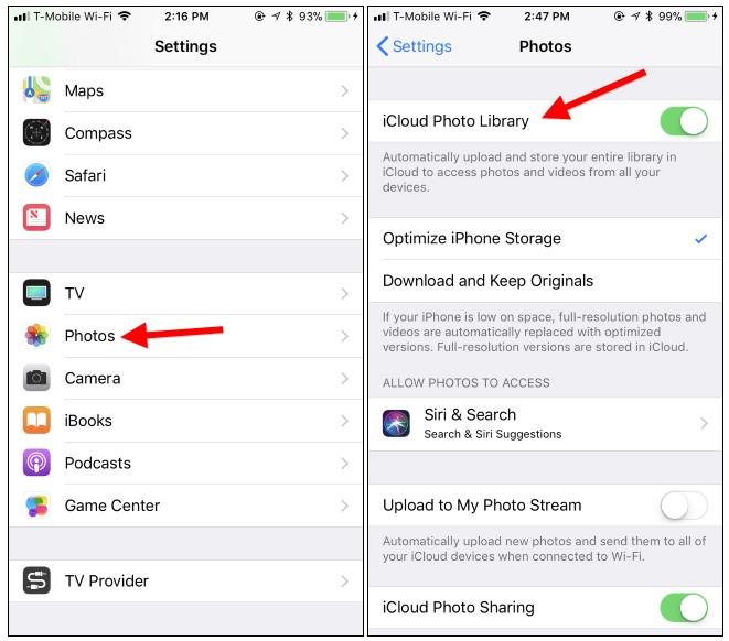 Move Photos From iPhone to Laptop via iCloud Photos